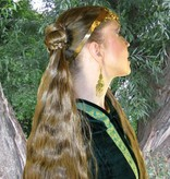 2 x Zopf, geflochten, L extra, gewelltes Haar