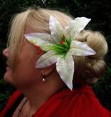 Lily hair flower 2 x
