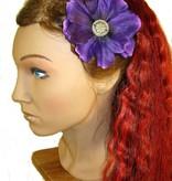 Lila Button Magnolien Haarblüten 2 x