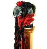 Red Passion Nostalgia Tribal Belly Dance Hair Flower Set