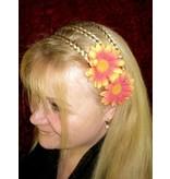 Orange Daisy Hair Jewelry 2 x