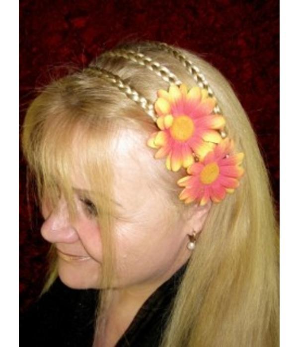 Orange Margerite Haarblüte 2 x
