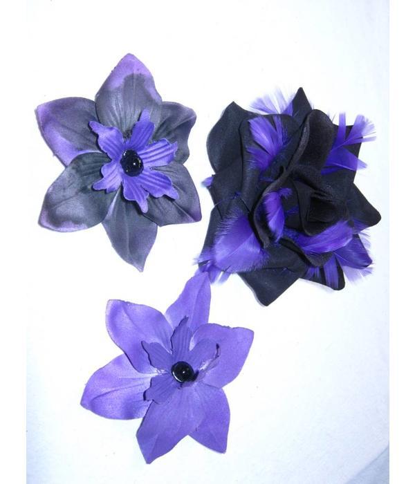 Purple Passion Hair Flower Set