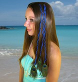 3er Pfauenfeder Clip Extensions