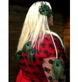 4er Pfauenfeder Haarteil