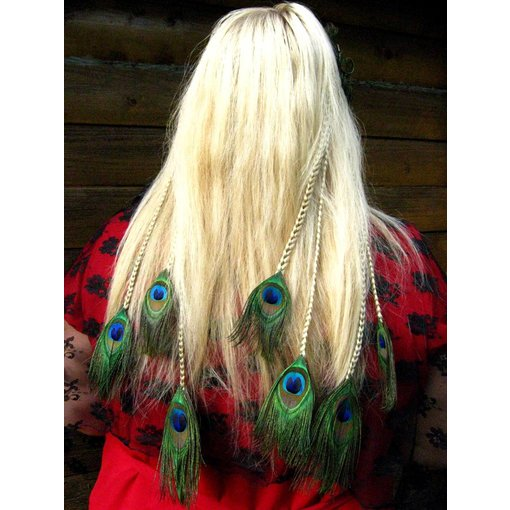 Peacock Hair Pieces L Set