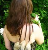 Helles 4er Pfauenfeder Haarteil