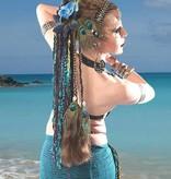 Pfauenfeder Kauri Tribal Clip Haarteil