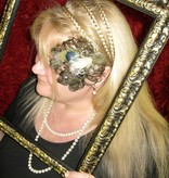 Dark Peacock Heart Fascinator