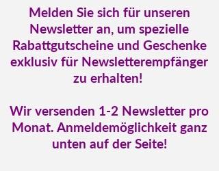 Newsletter: spezielle Rabattgutscheine & Geschenke
