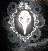 Gothic Vanitas Vogelschädel Kamee