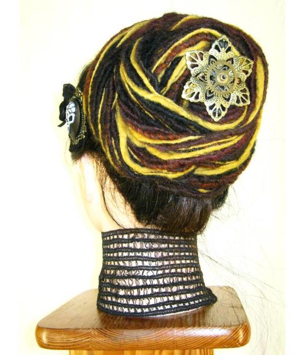3 Mechanical Steampunk Hair Flowers