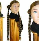Braided Hair Bund, crimped hair