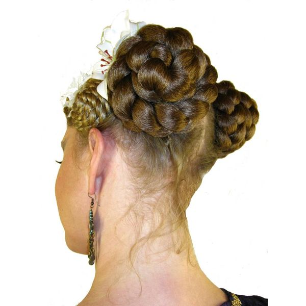 Braided Hair Buns, voluminous