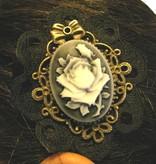 Steampunk Rose Cameo Clip