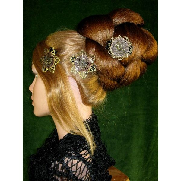 Steampunk Mermaid Hair Flowers