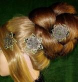 Steampunk Nixe Haarblumen Set