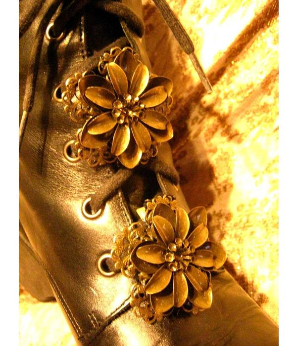 Boho Haarblüte Steampunk Lotus