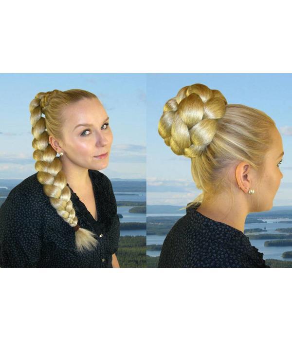 Diva Hair Bun/ Chignon, crimped hair