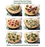 Blätter-Verzierung für ein Dreadlockshaarteil