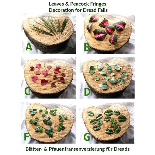 Blätter-Verzierung für Dreads