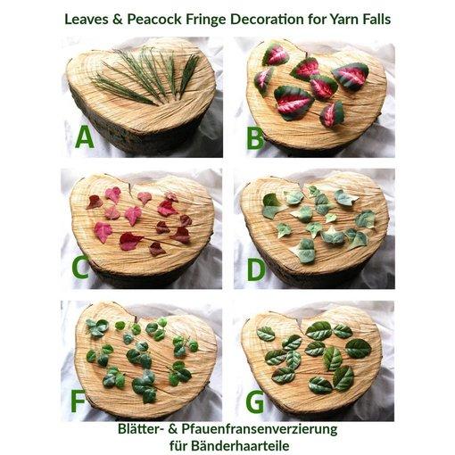 Blätter für Bänderhaarteil