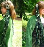 Blätter-Verzierung für einen Gürtel- & Haarclip