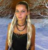 Feine Blonde Dreads Haarteil