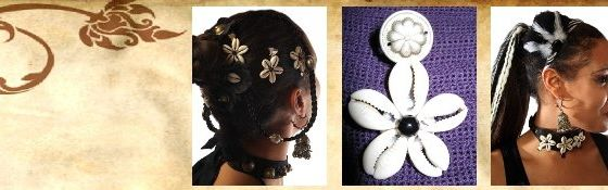 Cowry Flower Clips