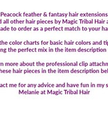 Fair Triple Peacock Feather Hair Piece