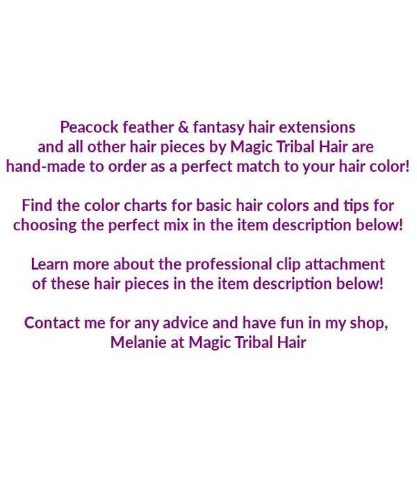 Helles 2er Pfauenfeder Haarteil