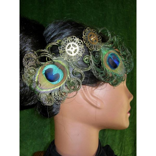 Steampunk Pfau Fascinator