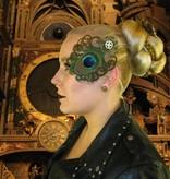 Steampunk Zeitgeist Pfau Haarschmuck Set