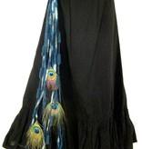 Goth Mermaid peacock hip & hair tassel clip/ hair fall