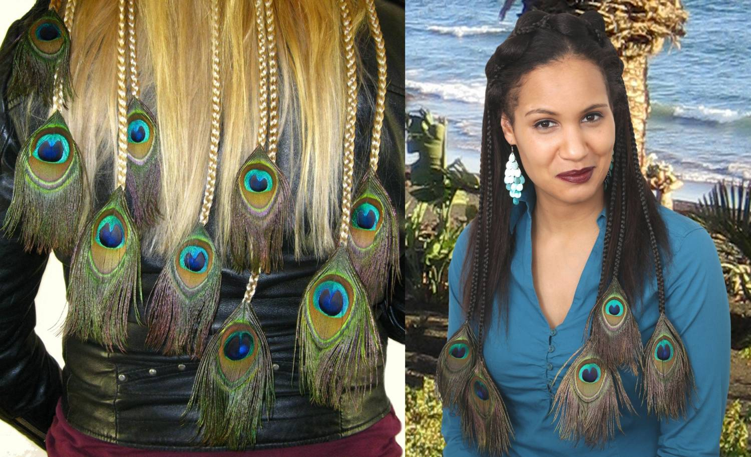 peacock feather extensions