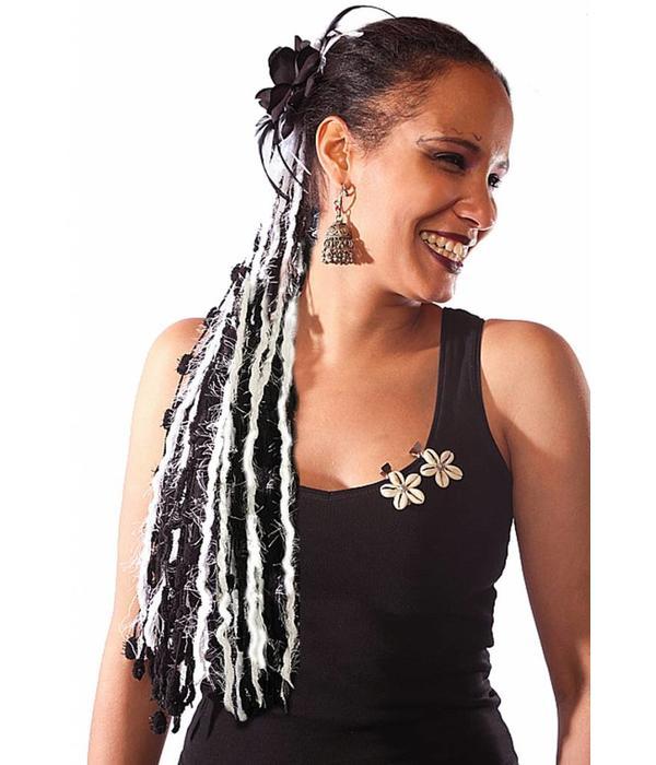 Morticia Gothic yarn hair fall