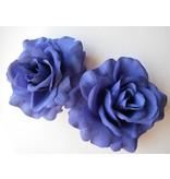 Blue Rose Hair Flower 2 x