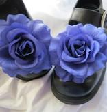 Haarblüte Rose blau 2 x