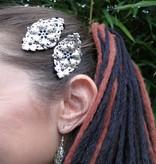 Gothic Silber-Schneeflocke Haarclip