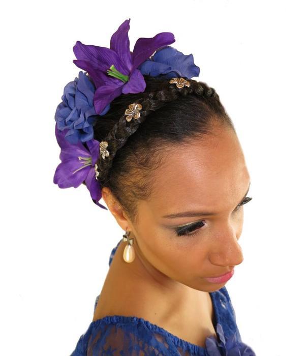 Paradise Lilien Haarblütenset