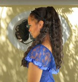 Curly Hair Piece M, natural curls