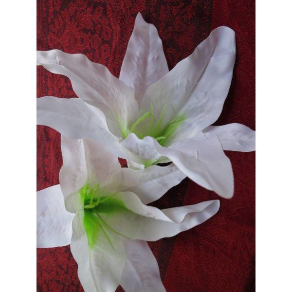 White Aloha Lily 2 x