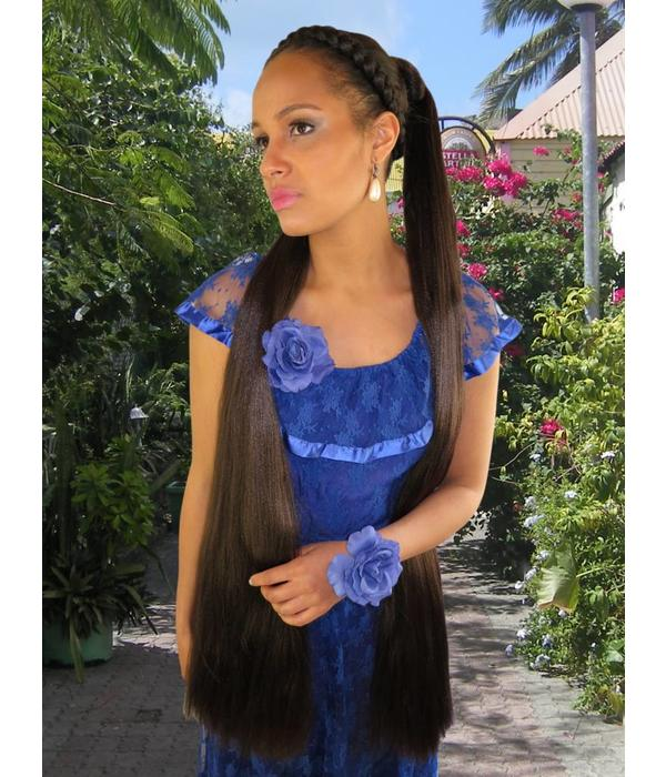 Hair Falls size M extra, slightly crimped texture