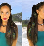 Peacock Feather Extensions Set 16 or 20 Feathers