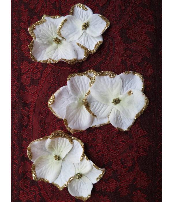 Elfenbein-Goldene Bollywood Haarblüten