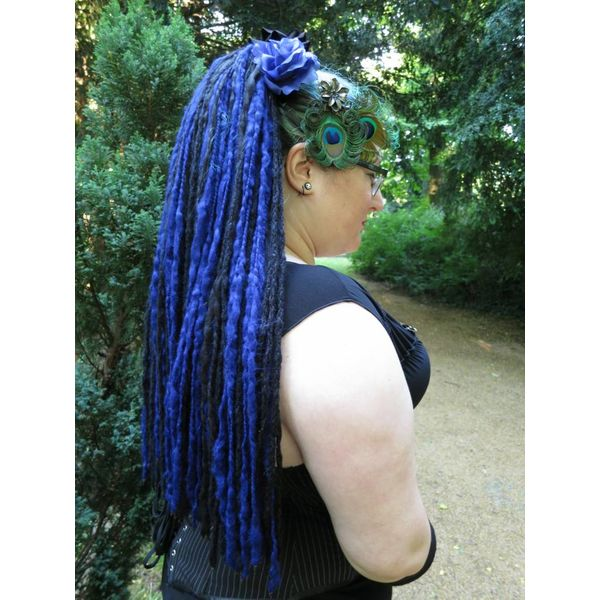 Midnight Blue Goth Dreads