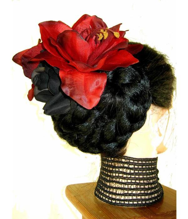 Gothic Diva Haarblumen Set