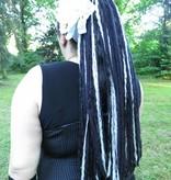 Black & Grey Goth Dread Falls
