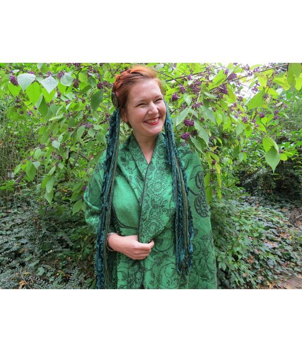 Emerald Fairy larp & belly dance yarn fall