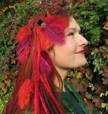 Straußenfeder Haarclip Flora